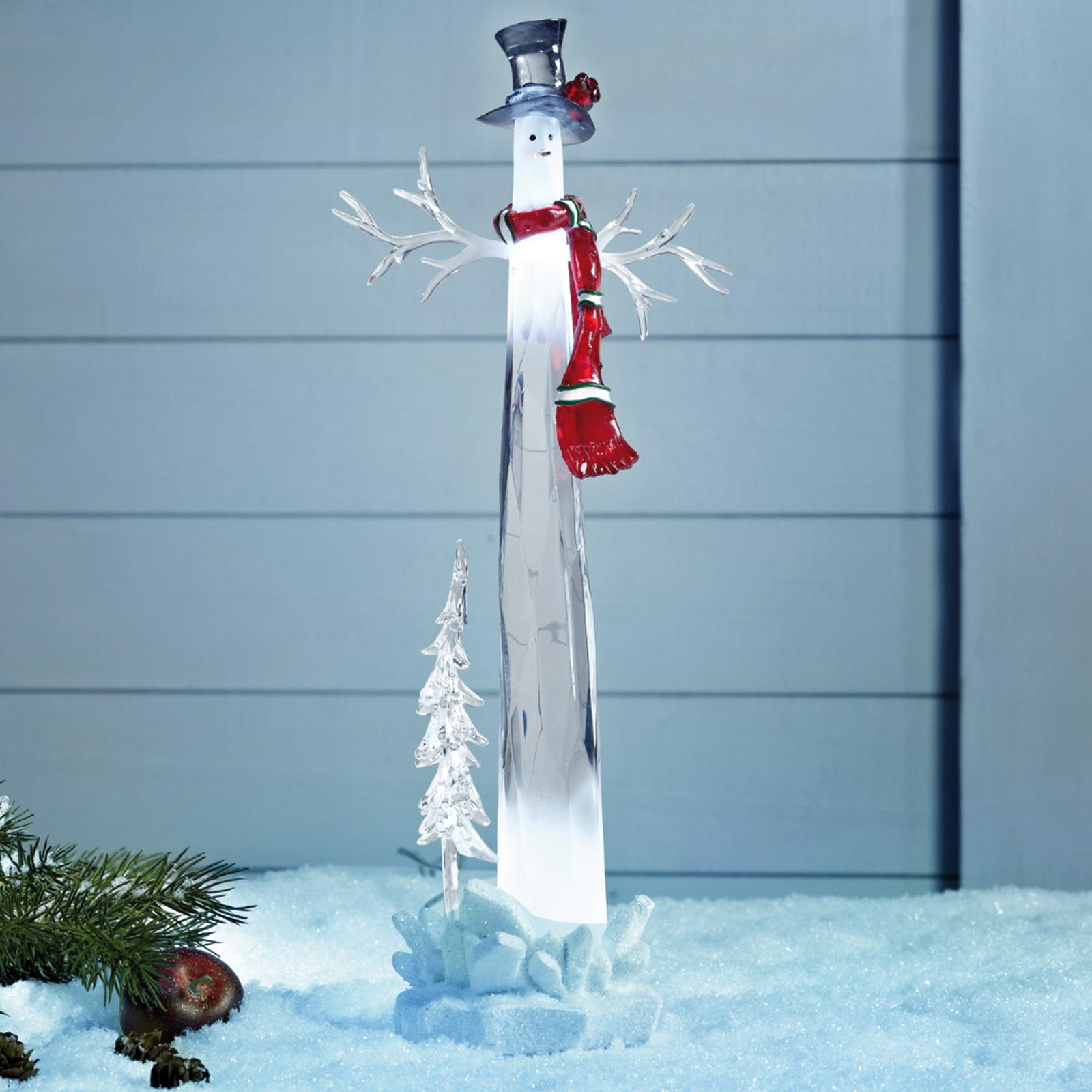 Dekorativer LED Schneemann Dumle 34cm