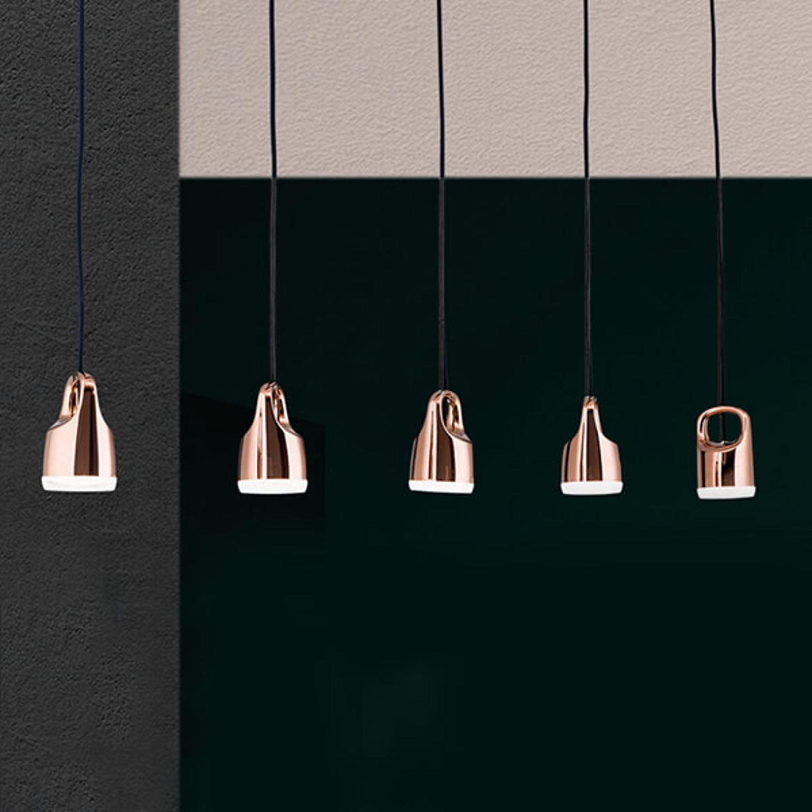 Tinus LED hanglamp in koper-goud met 5 lampen