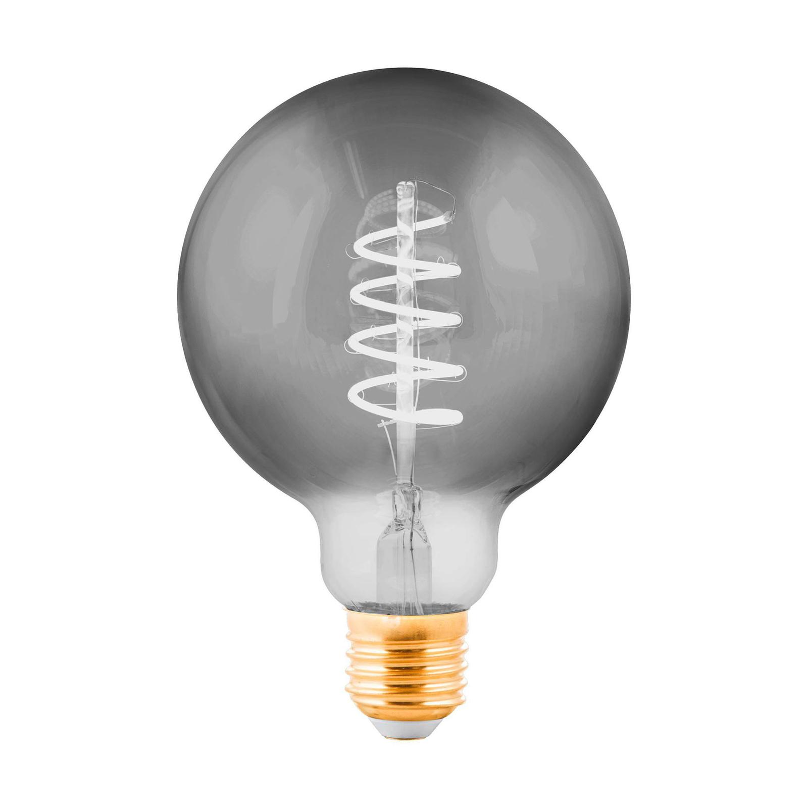 LED-Globelampe E27 4W schwarz-transparent Ø 9,5cm