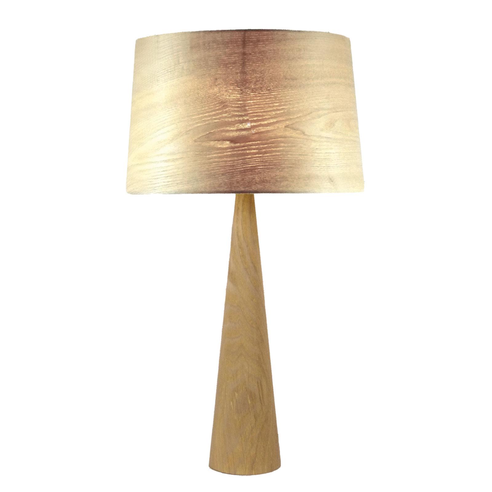 Lampe à poser Totem LT en aspect bois naturel