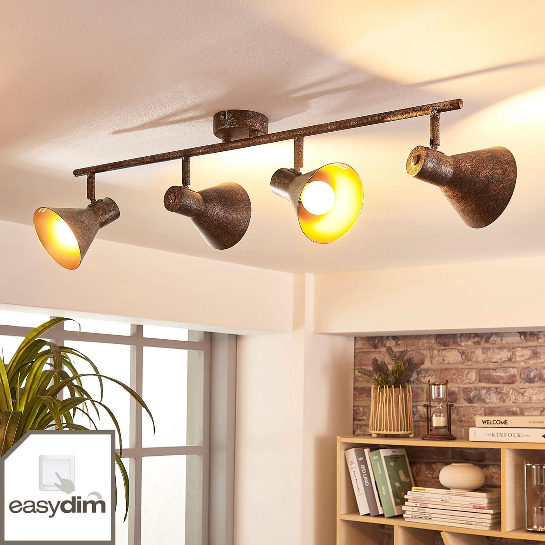 4-punktowa lampa sufitowa LED Zera, easydim