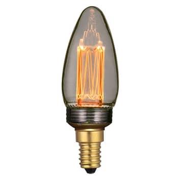 LED-mignonpære E14 2 W Filament, dimbar, røyk