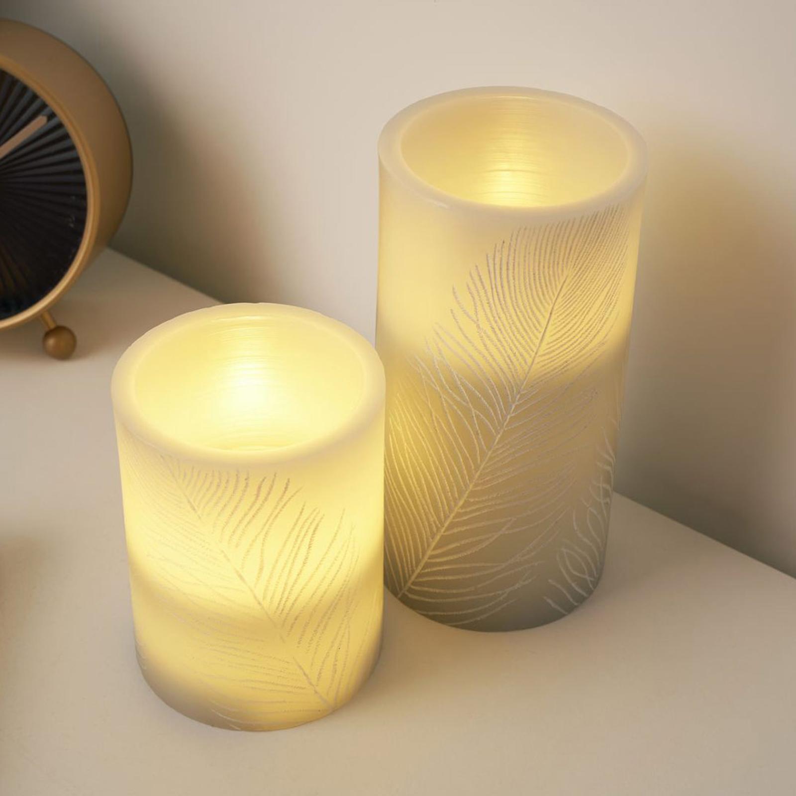 Pauleen Cosy Feather Candle LED-Kerze 2er Set
