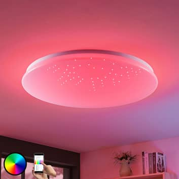 Lámpara LED de techo Marlie tecnología WiZ redonda
