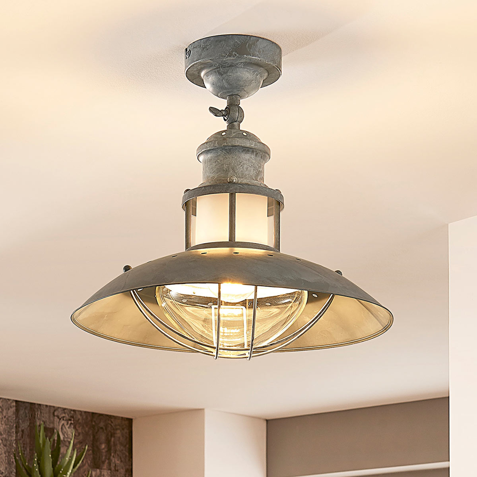 Lampa sufitowa Louisanne, styl industrialny