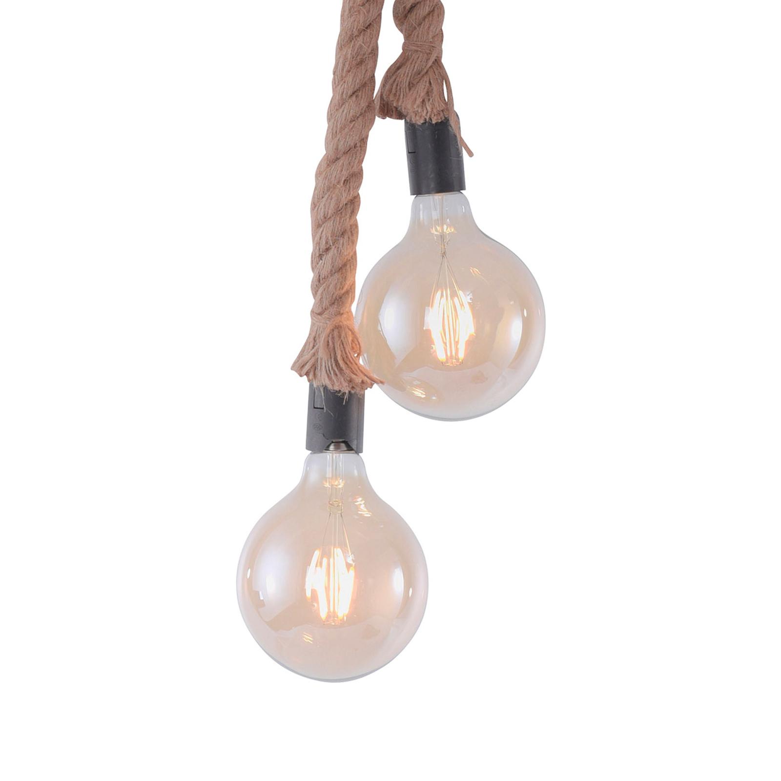 Lampa wisząca Rope z liną, 2-punktowa