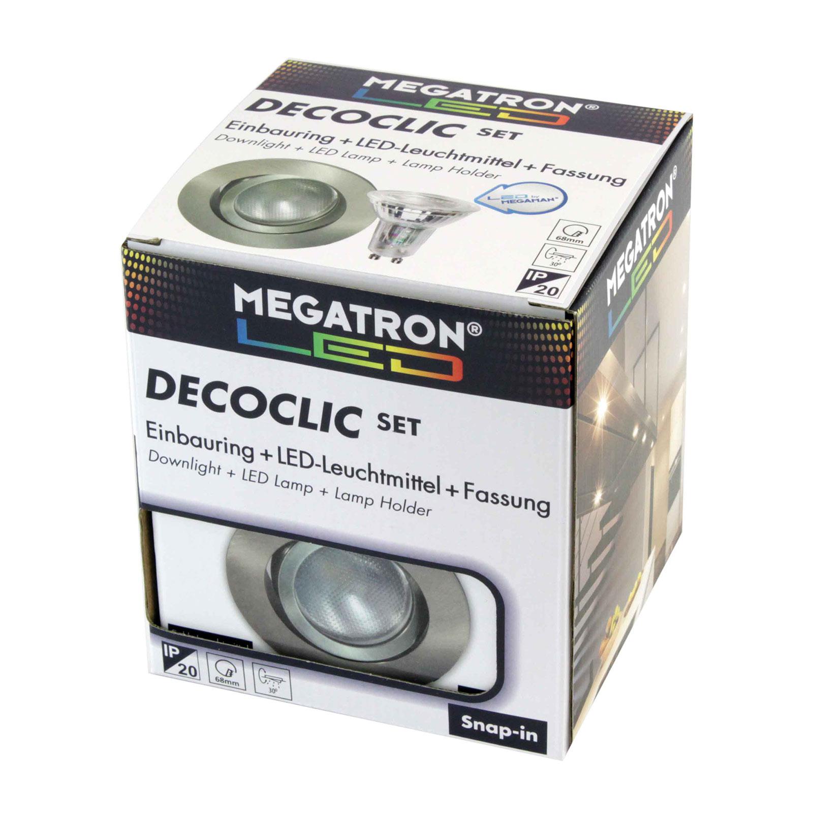 Decoclic LED-indbygningsspot set GU10 4,5 W, jern
