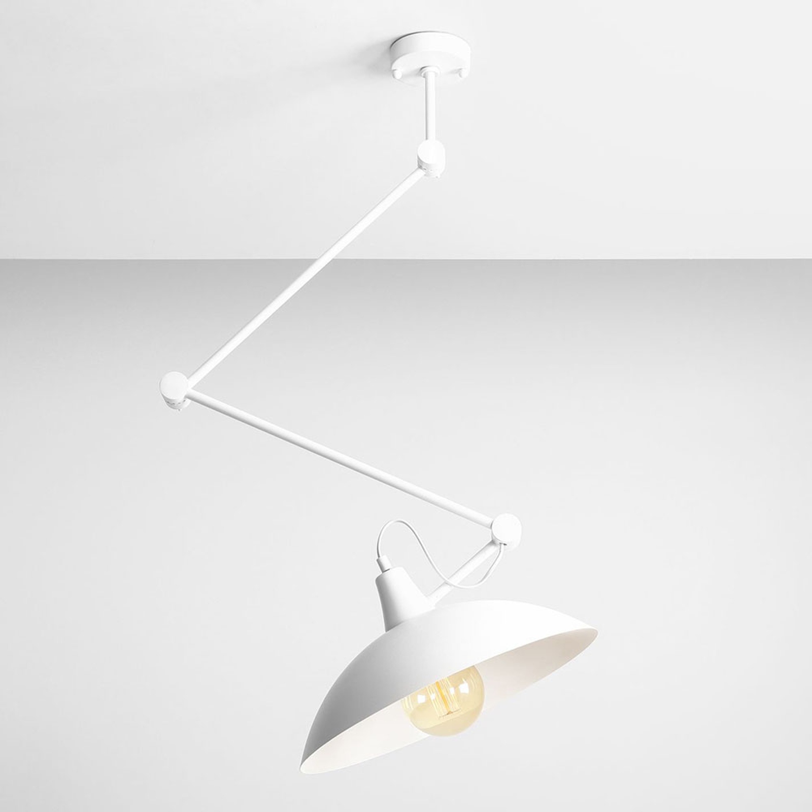 808 taklampe justerbar 1 lyskilde hvit