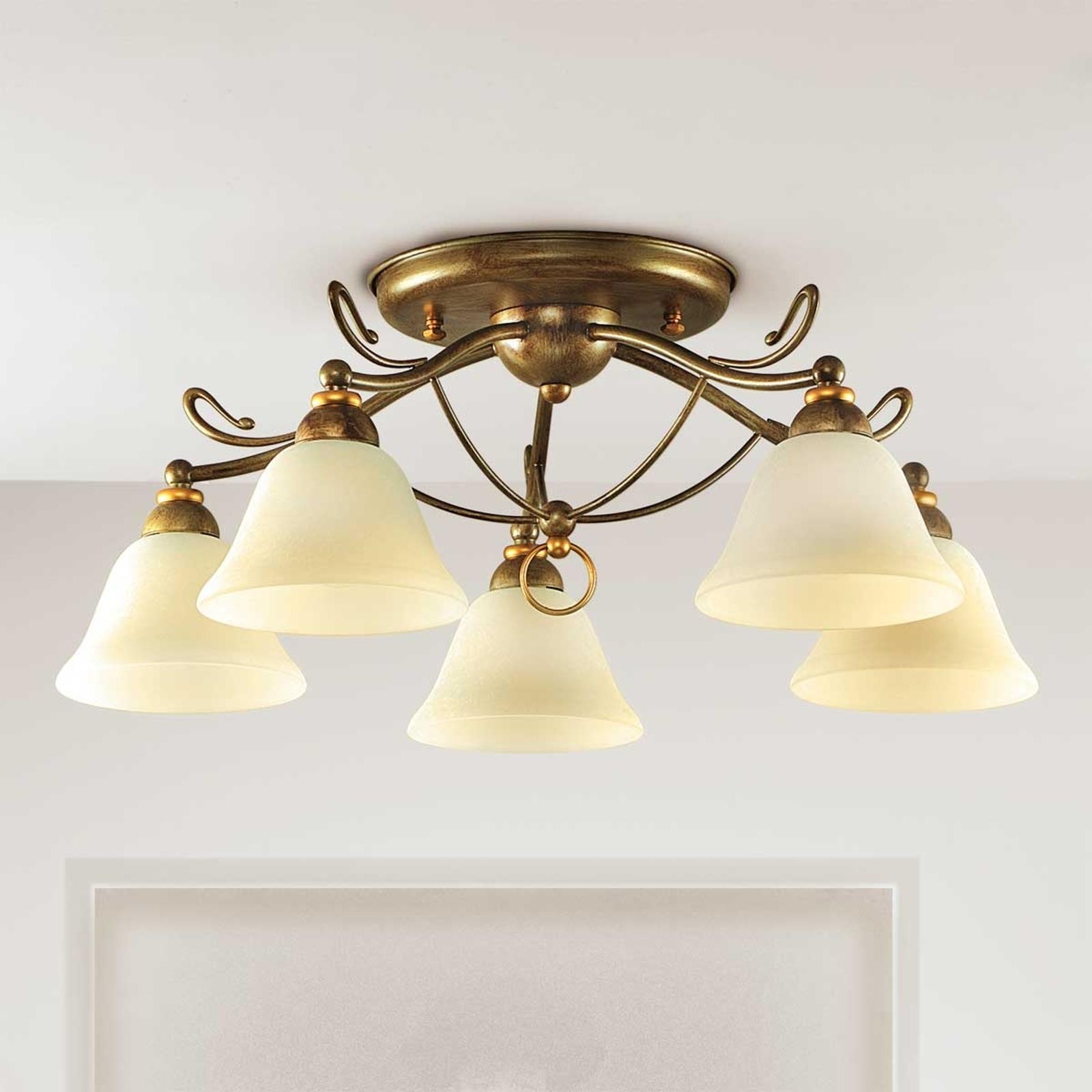 5-punktowa lampa sufitowa Antonio