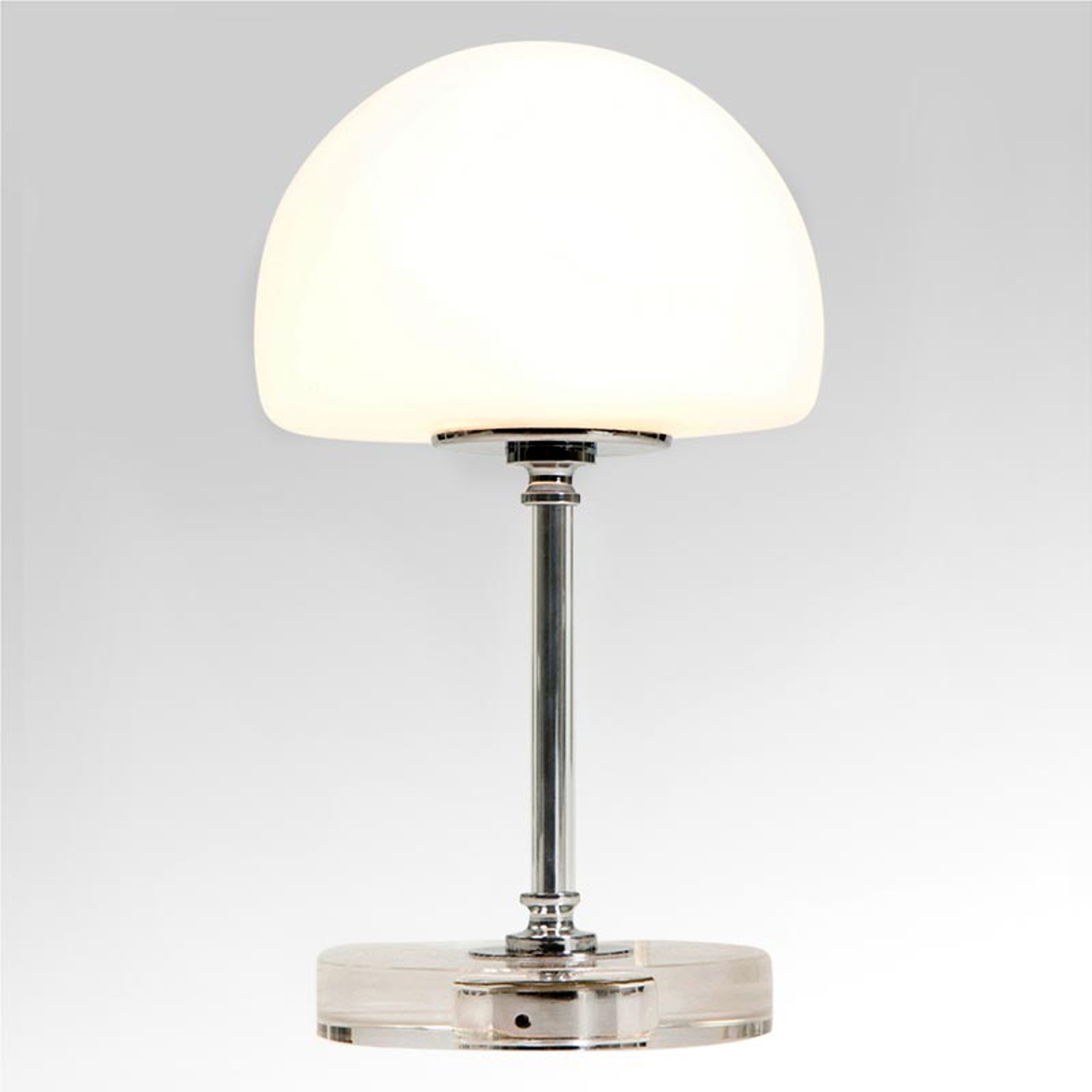 Ancilla - verchroomde LED tafellamp met dimmer