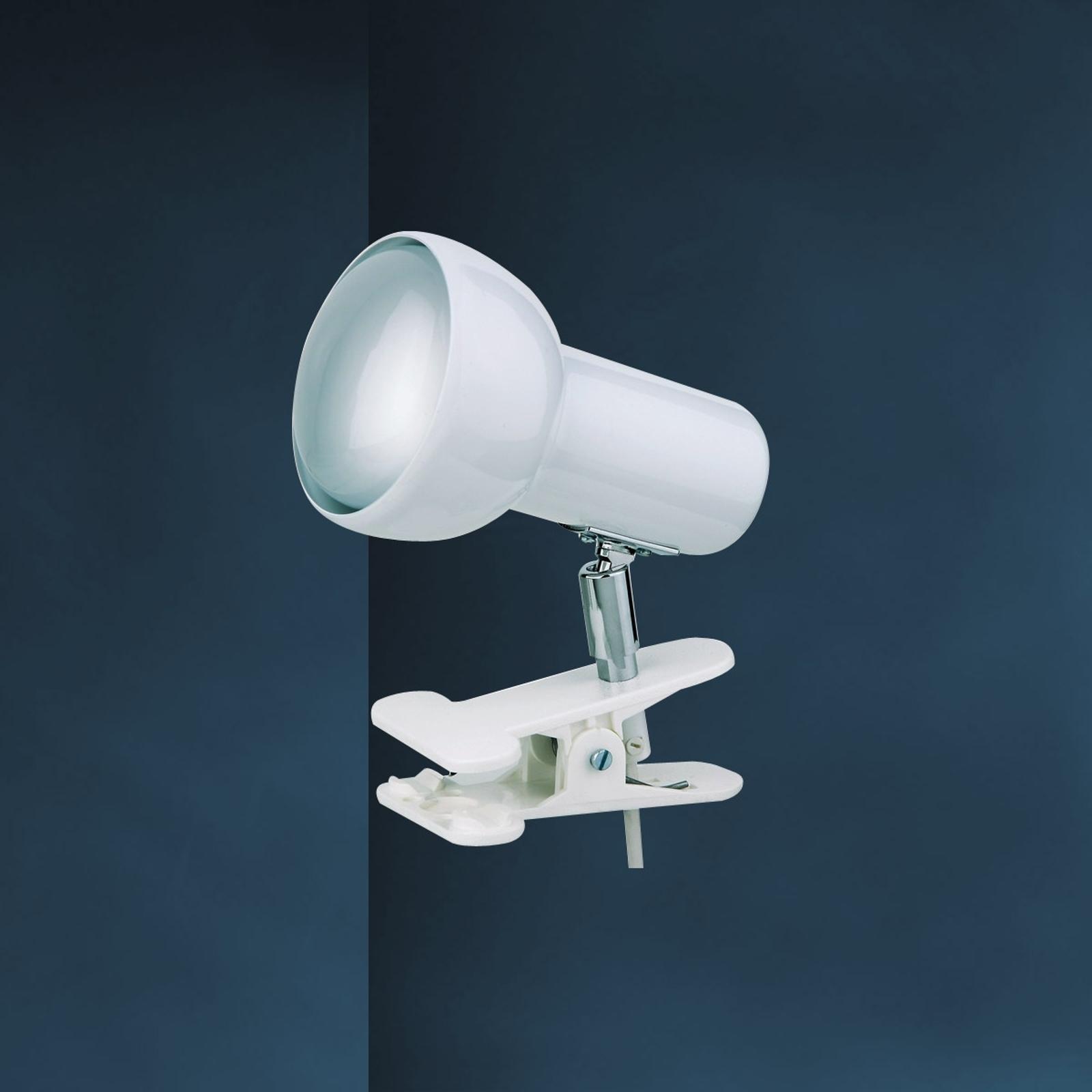 Biała lampa zaciskowa EIFEL
