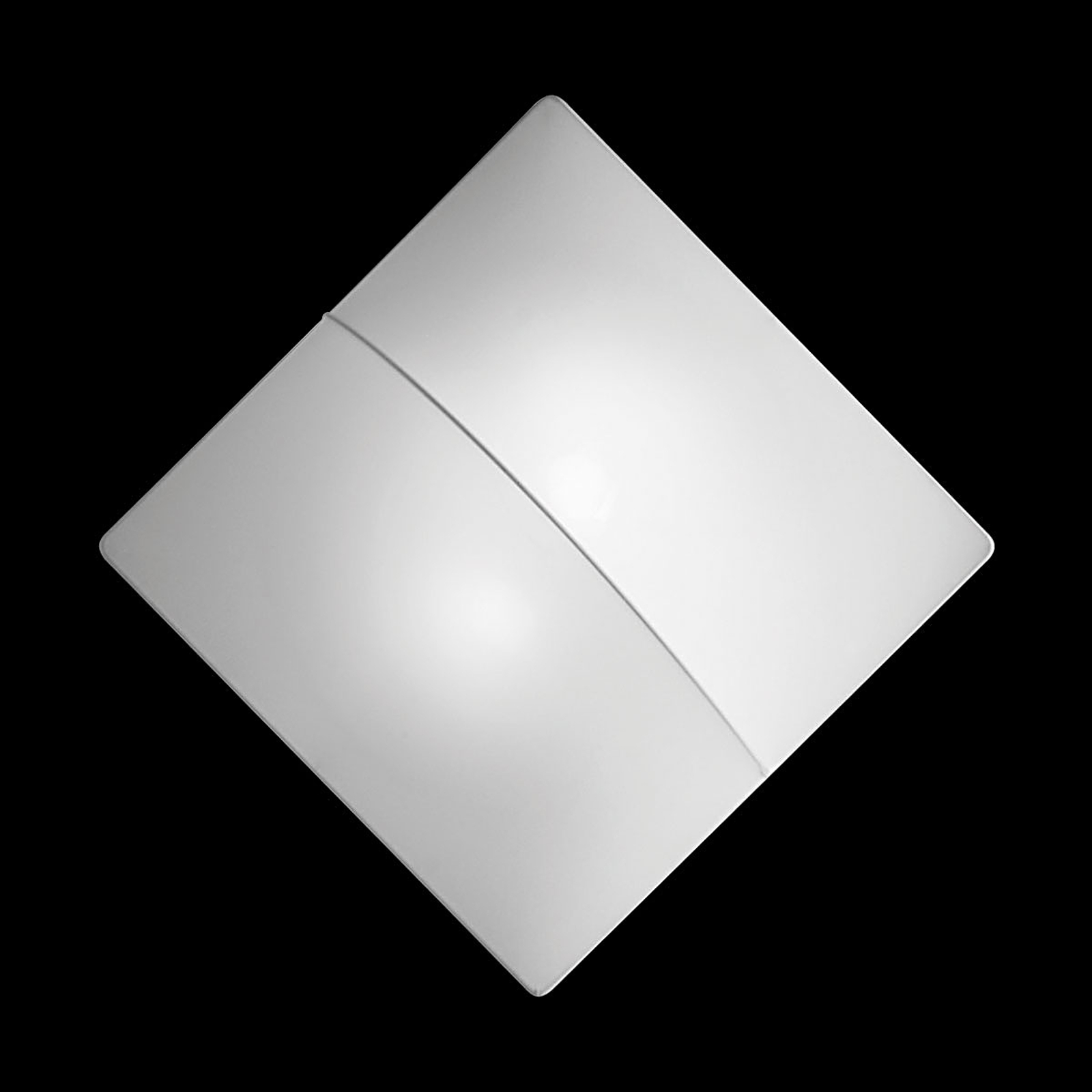 Nelly S - kvadratisk vägglampa med tyg 60cm