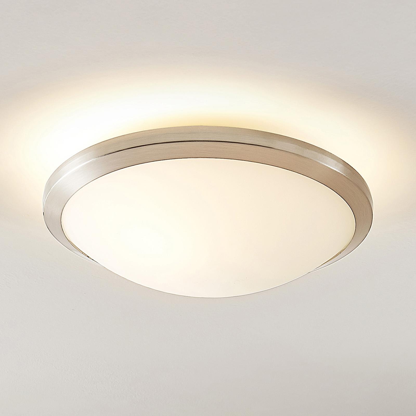 Lindby Ummi plafondlamp, nikkel satijn