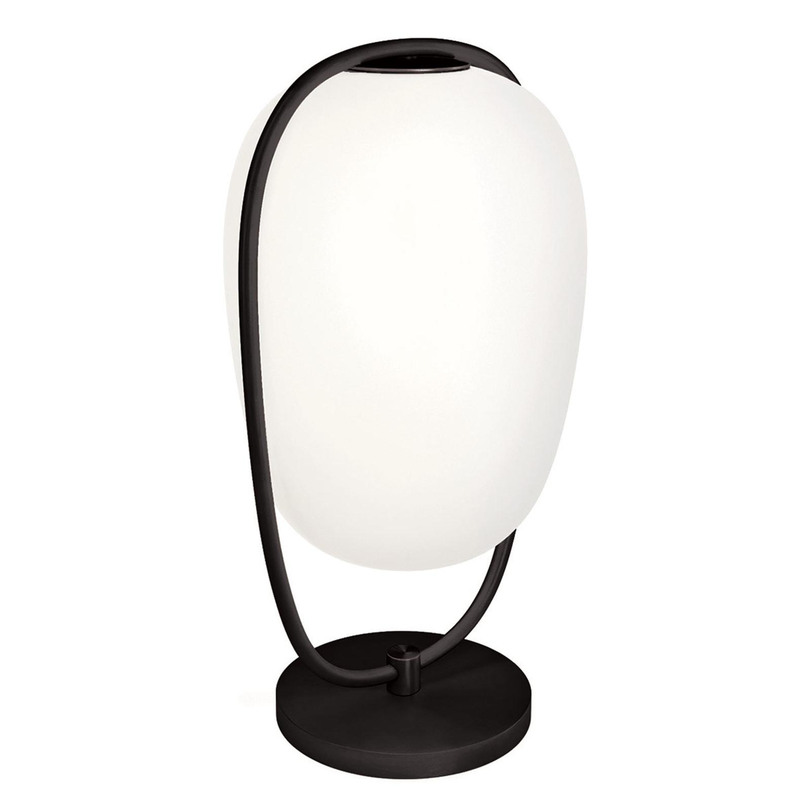 Kundalini Lannà tafellamp, zwart/wit