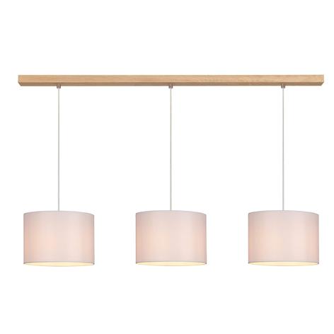Suspension Corralee blanche à 3 lampes