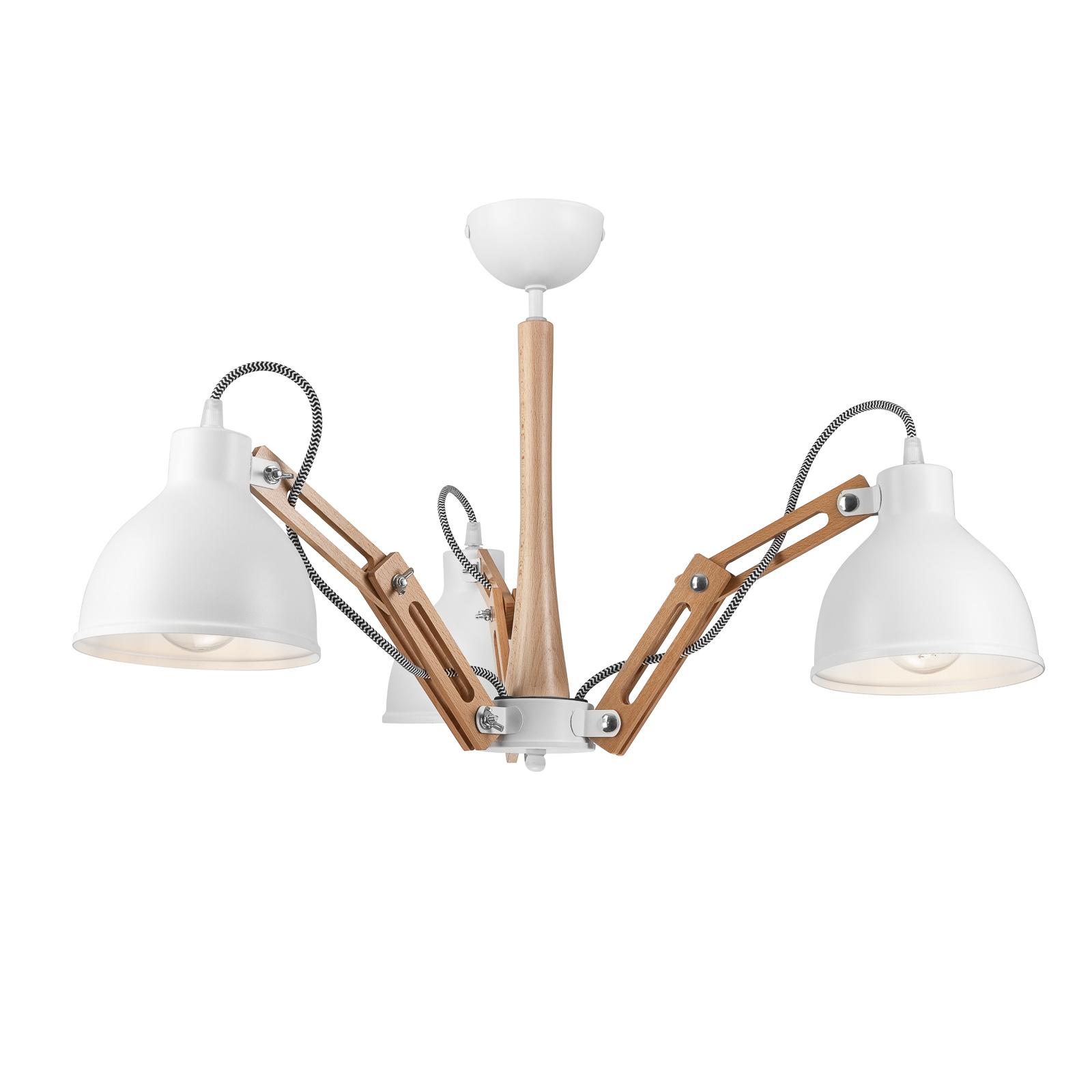 Plafonnier Skansen à 3 lampes ajustables, blanc