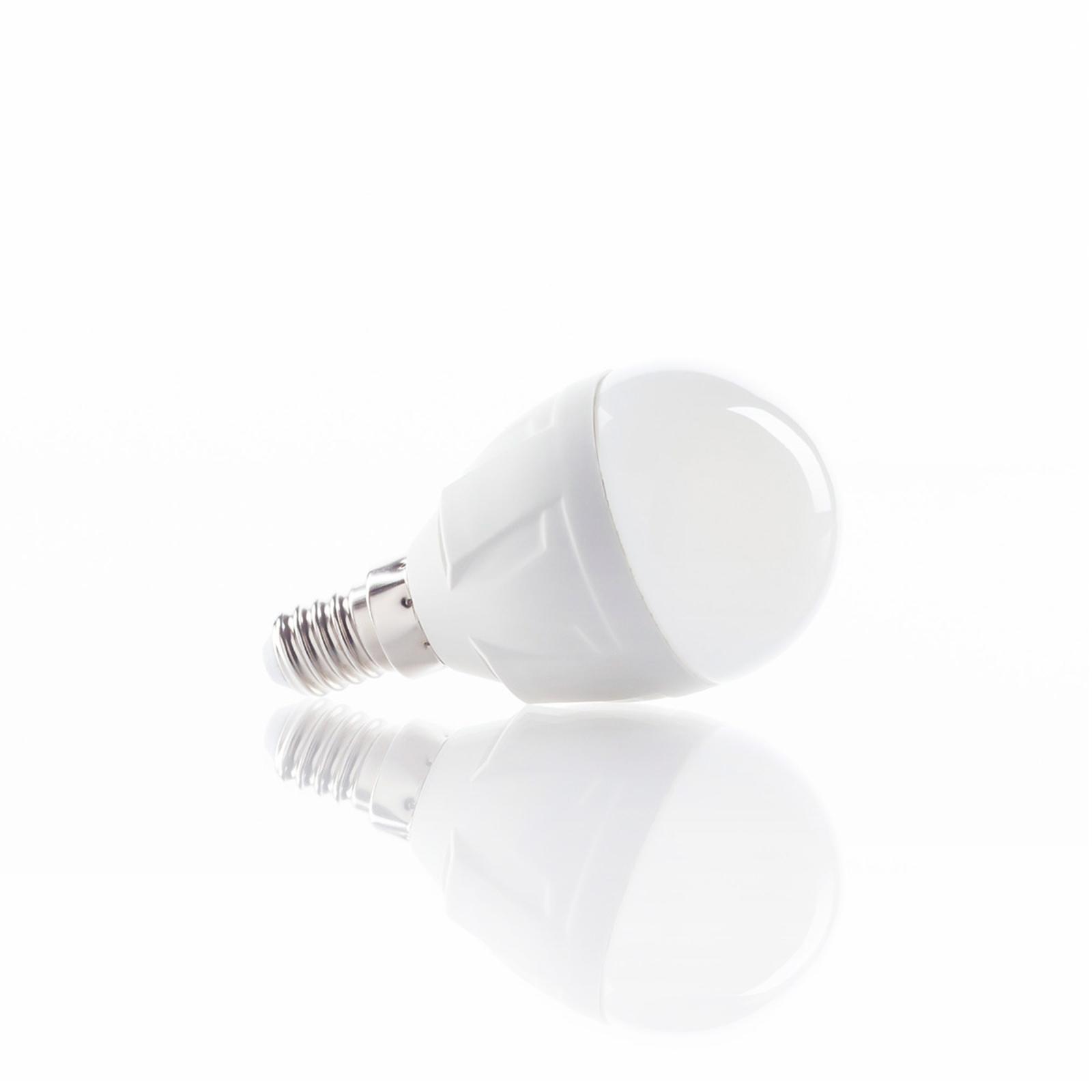 E14 4,9 W 830 LED-pære i dråbeform, varmhvid