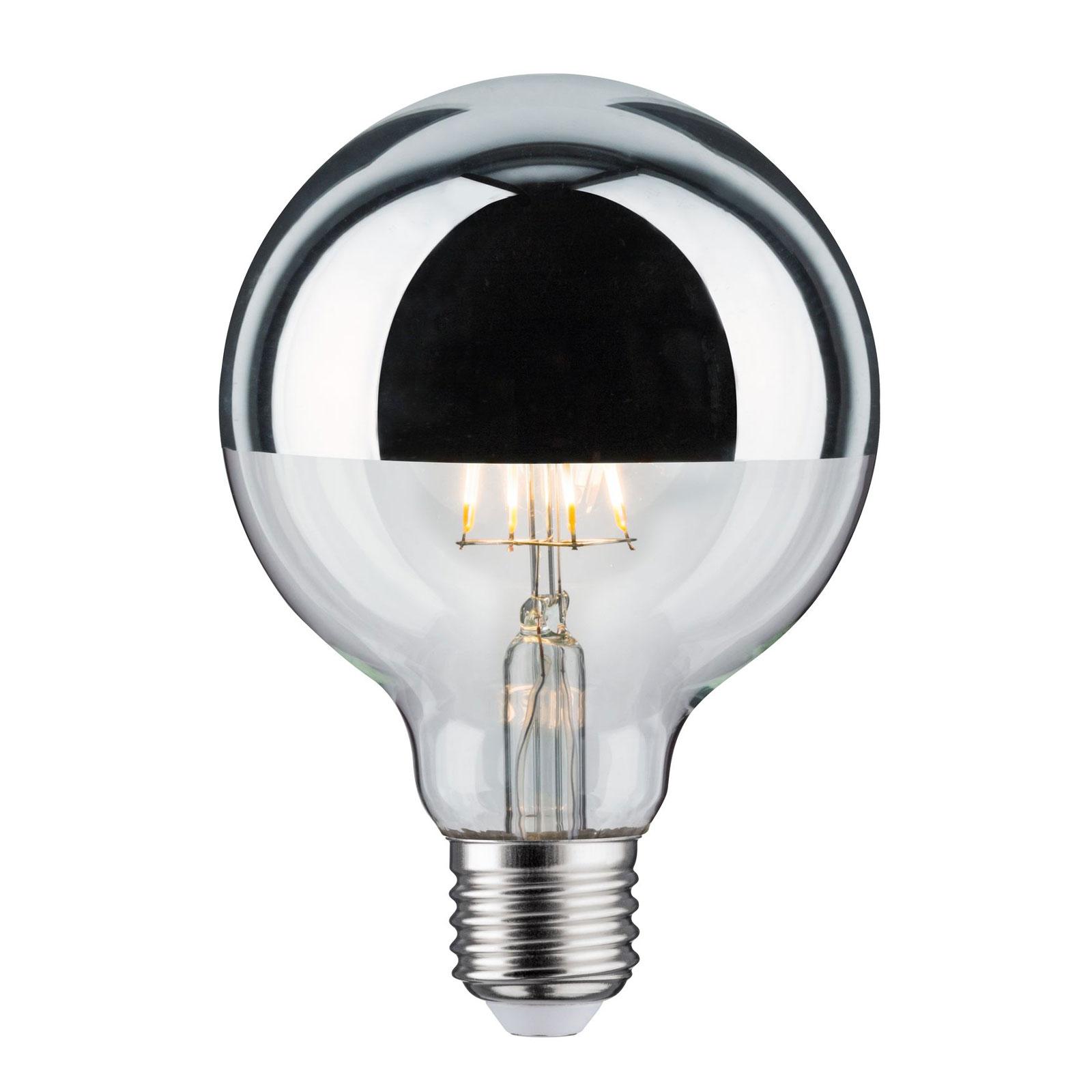 LED-Lampe E27 827 6,5W Kopfspiegel silber