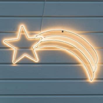 Silueta decorativa LED Cometa para exterior