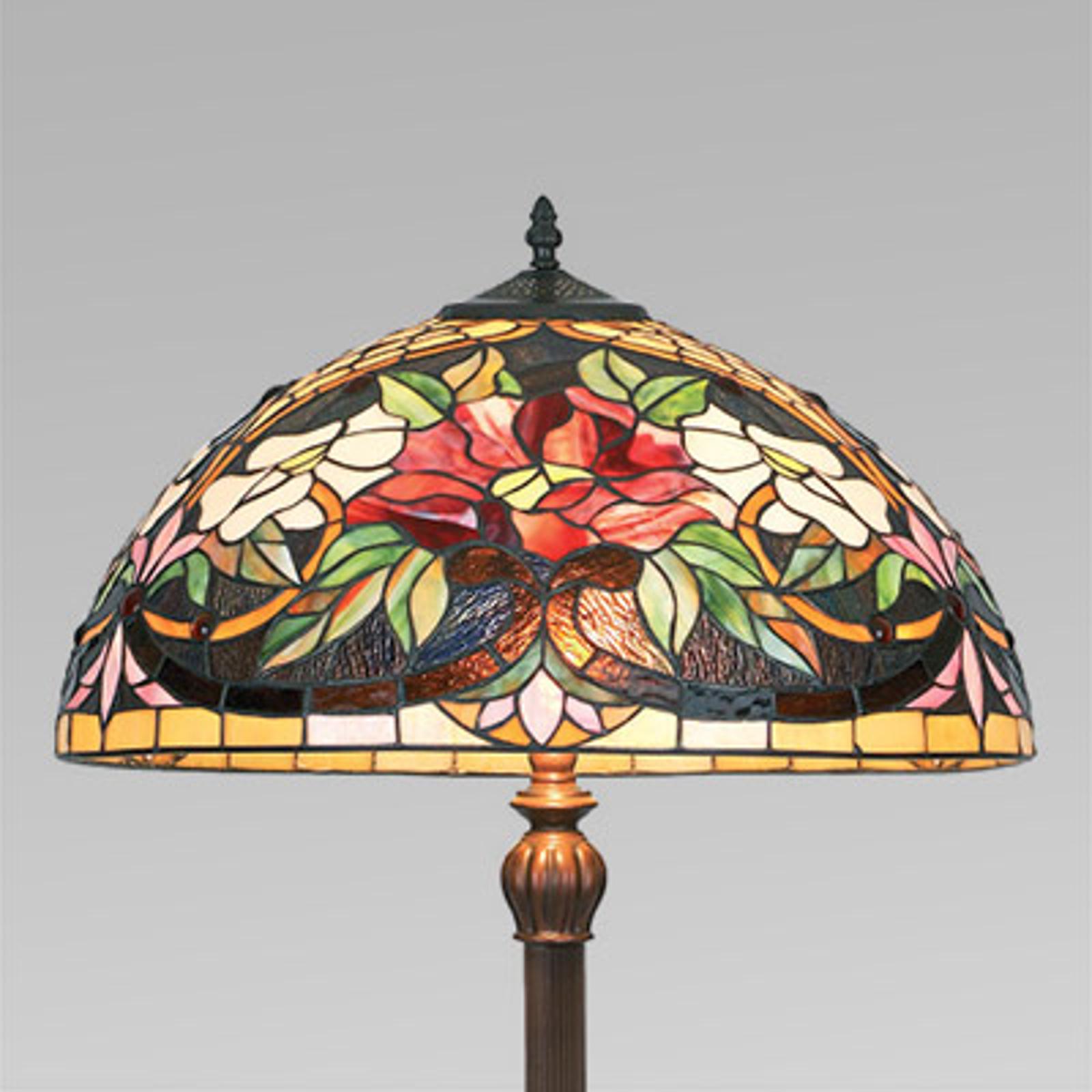 Farbenfrohe Stehleuchte ARIADNE im Tiffany-Stil