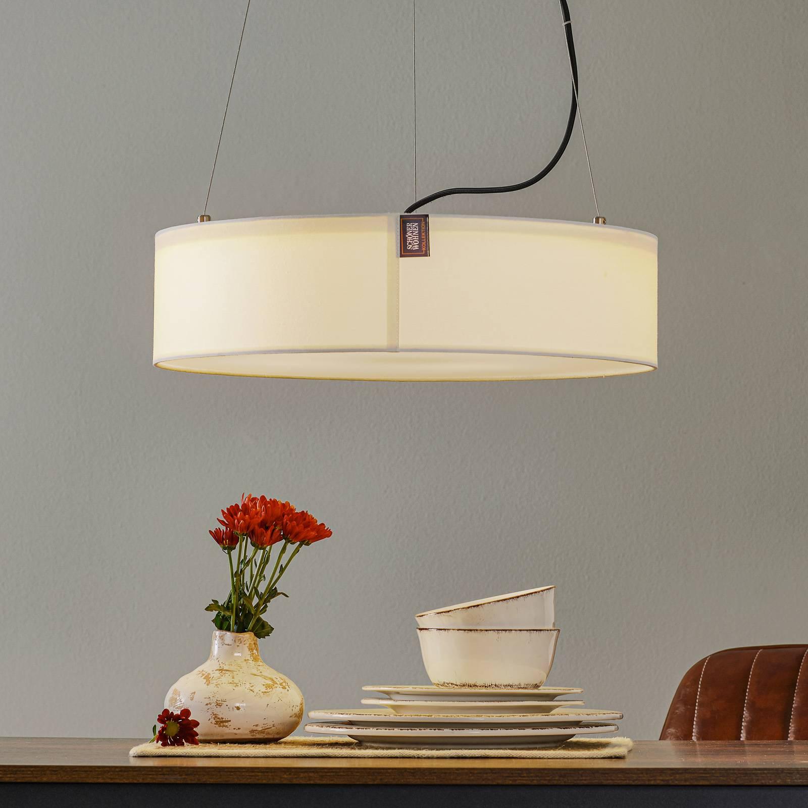 Schöner Wohnen Pina lampa wisząca biała