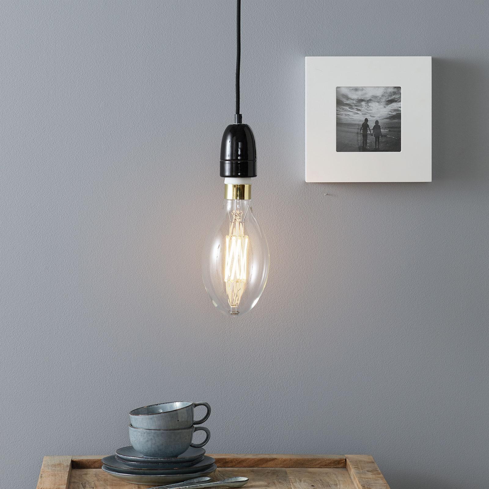 Lampa wisząca New York z czarnej porcelany