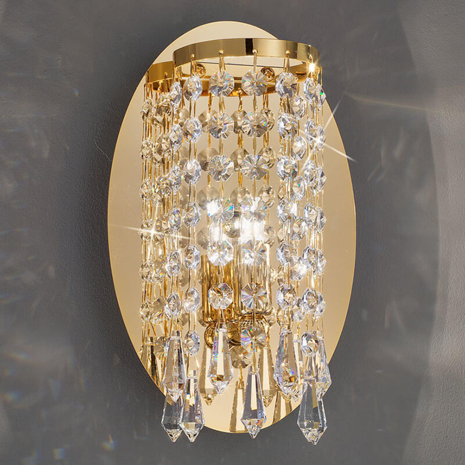 KOLARZ Charleston - Wandleuchte mit Kristall, gold