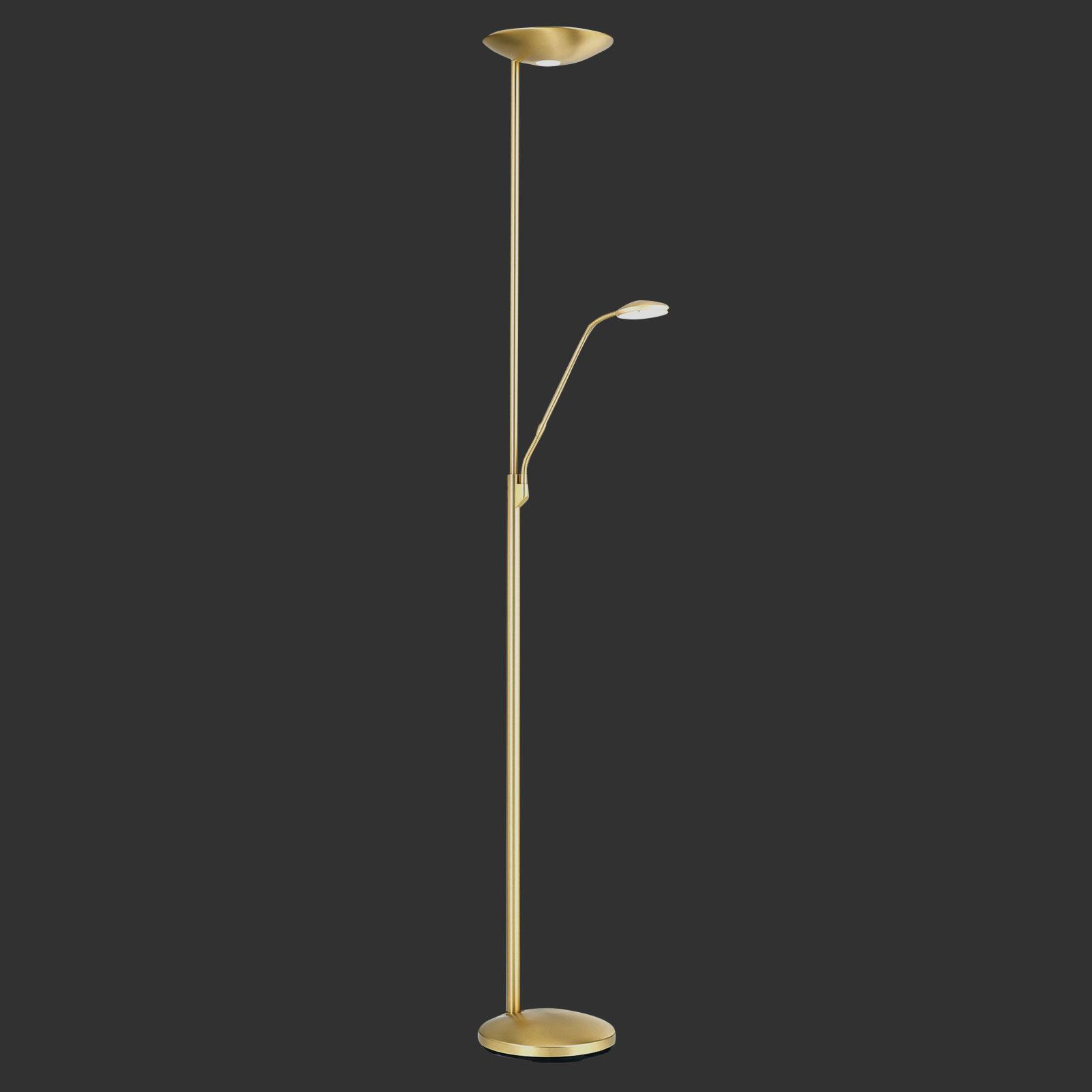 Cobra LED-uplight lampe med læselampe, messing