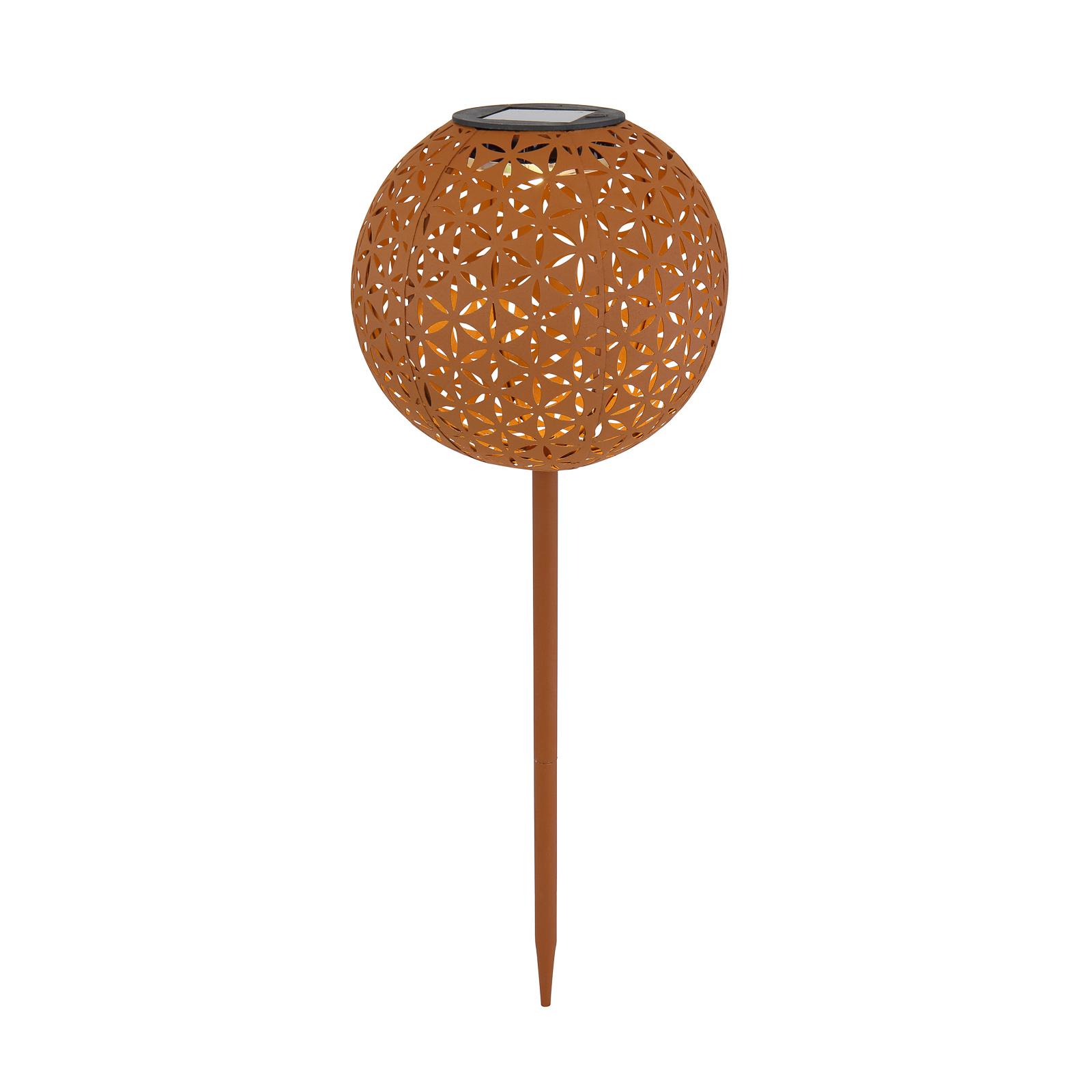 Solcellelampe 33628R livsblomst jordspyd rust