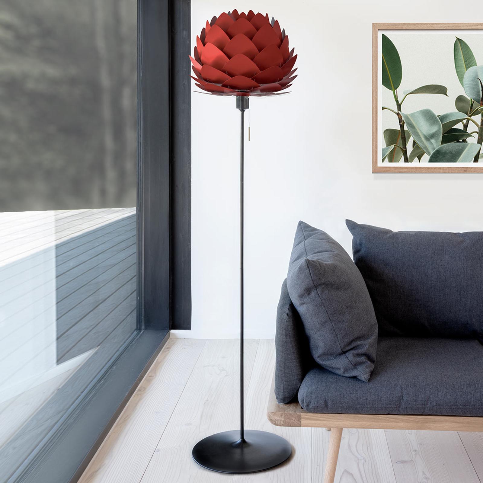 UMAGE Aluvia mini lampa stojąca, rubinowa czerwień