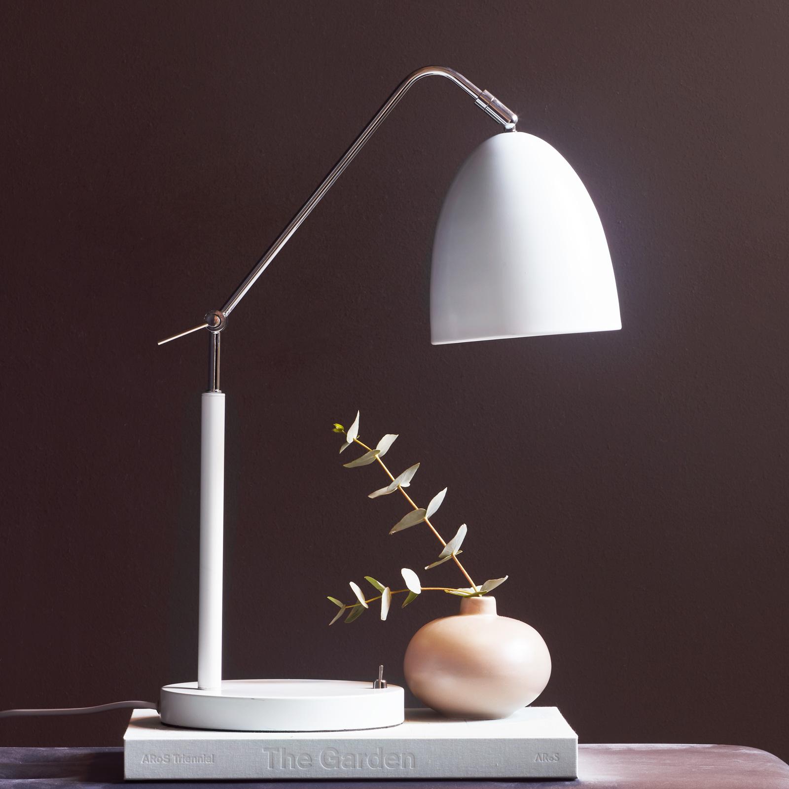 Tafellamp Alexander met scharnieren, wit