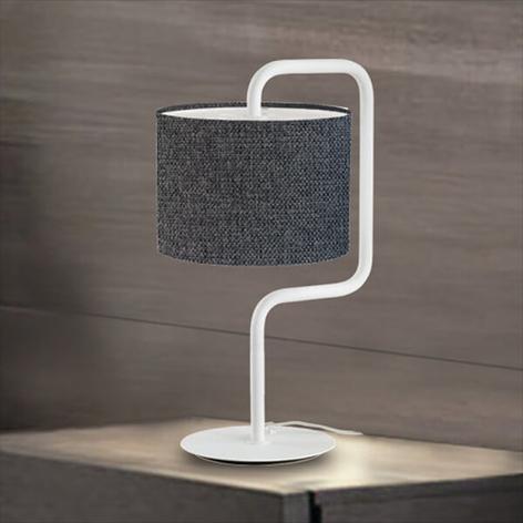Morfeo - lámpara de mesa de tela en antracita