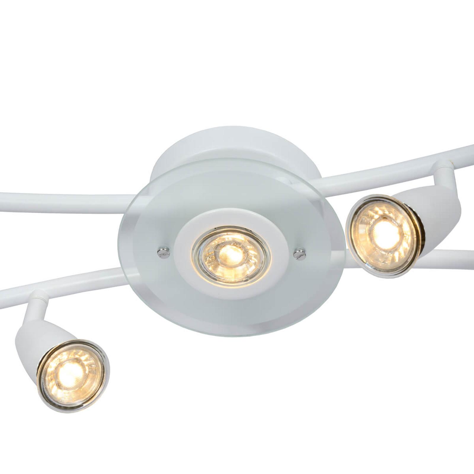 Regulowana lampa sufitowa LED Bingo, biała