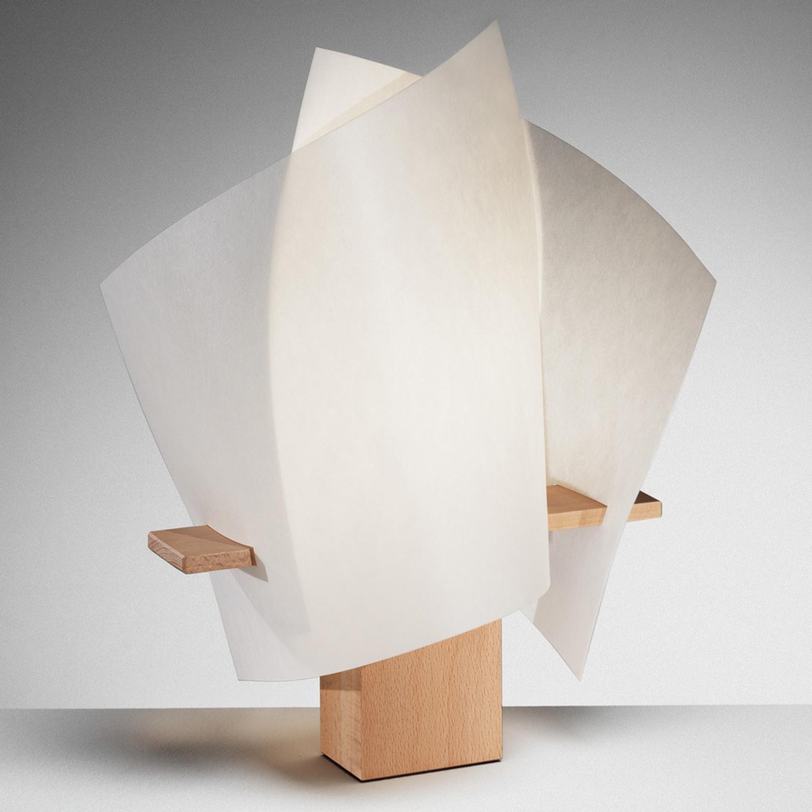 Designertischleuchte PLAN B, buche