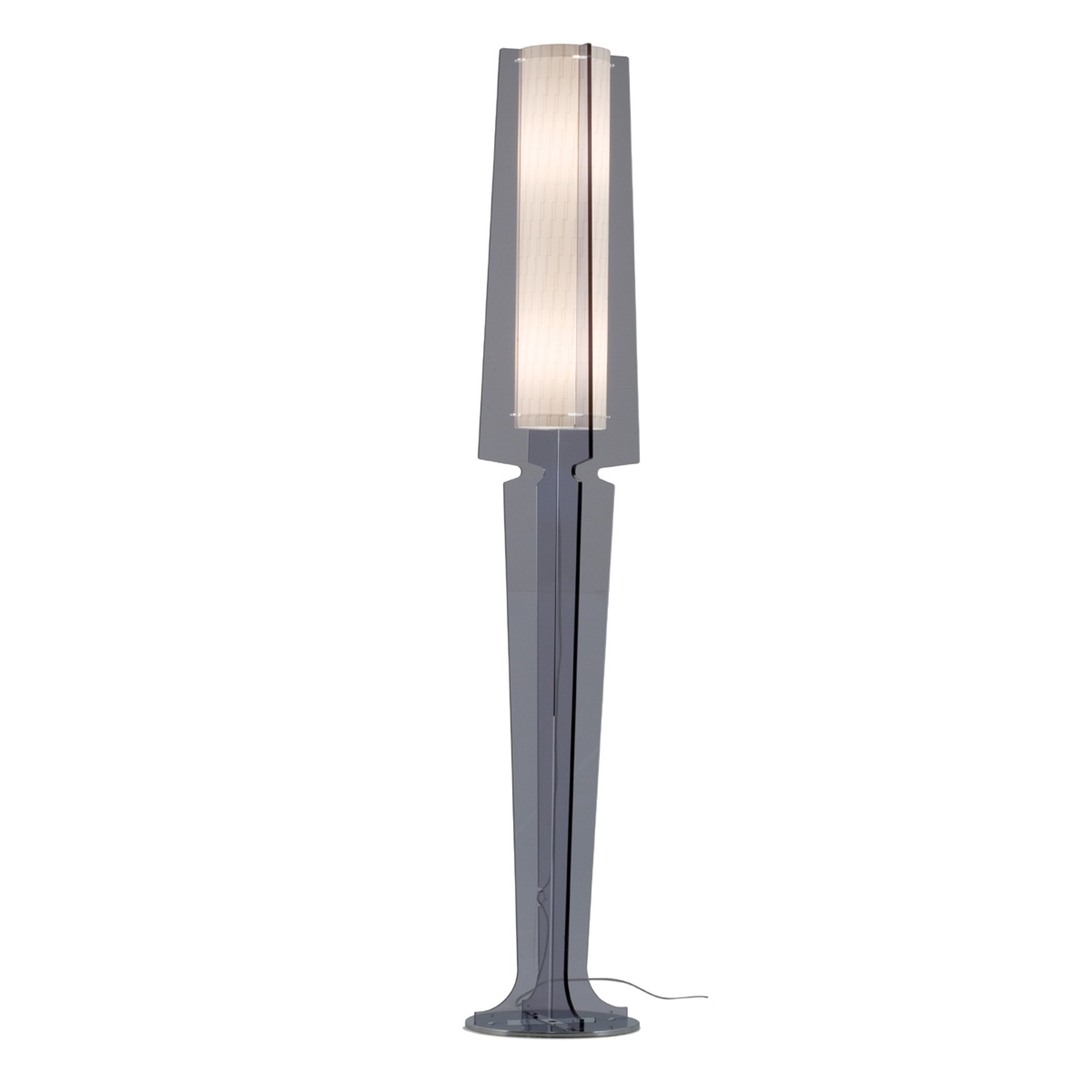 Dymová sivá stojaca lampa Dea
