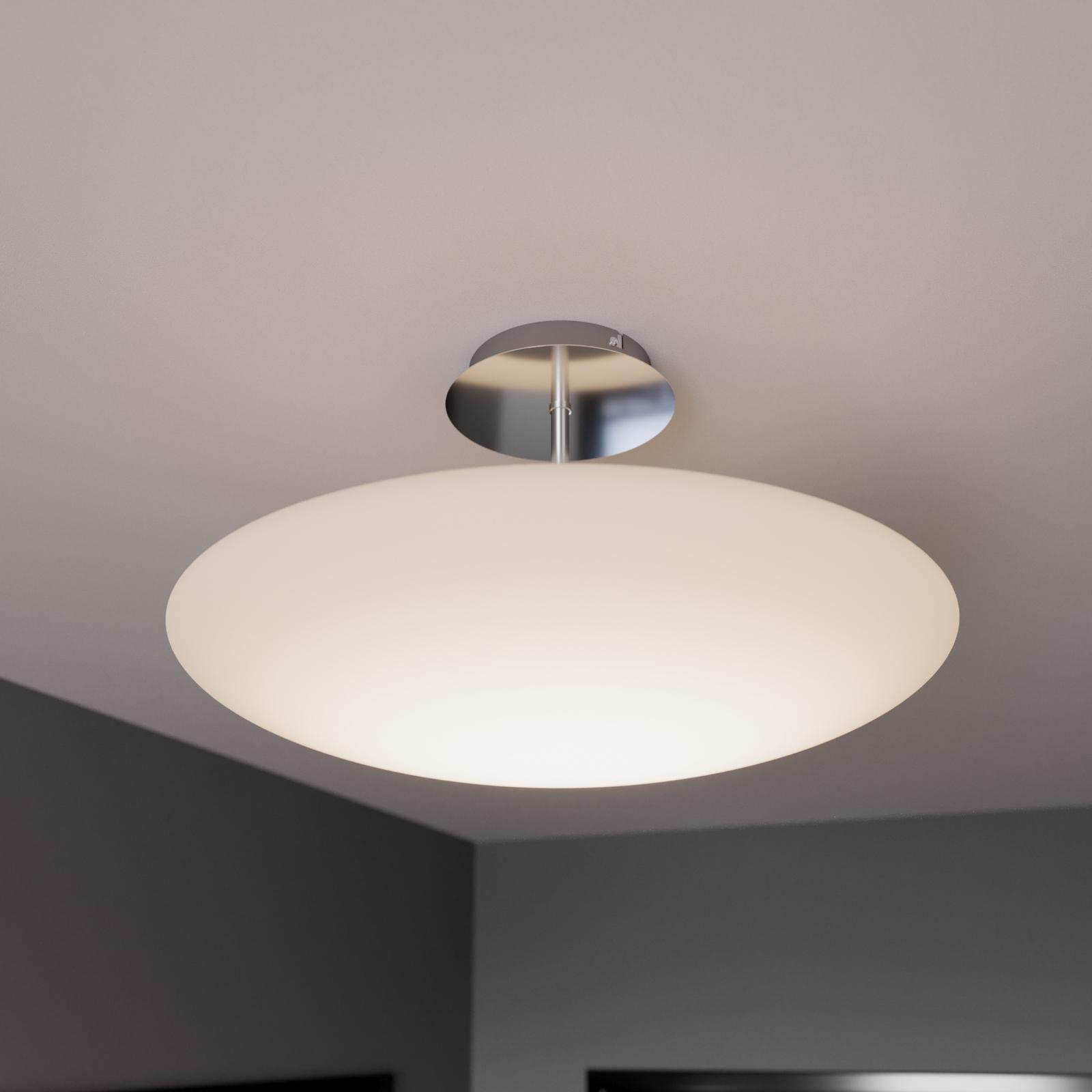 LED loftlampe Gunda, opalglas, hvid