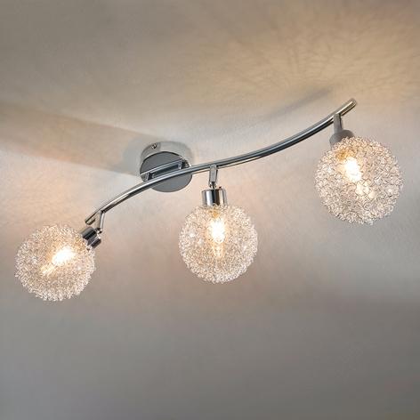 Stropní LED světlo Ticino, 3bodové, dlouhé