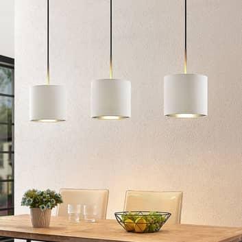 Lindby Trinika textilní závěsné světlo v bílé