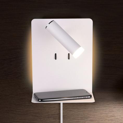 LED-Wandlampe Element mit Ablage weiß matt