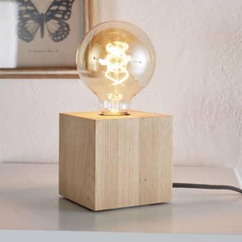 Bordslampa Trongo, oljad kub, kabel antracit