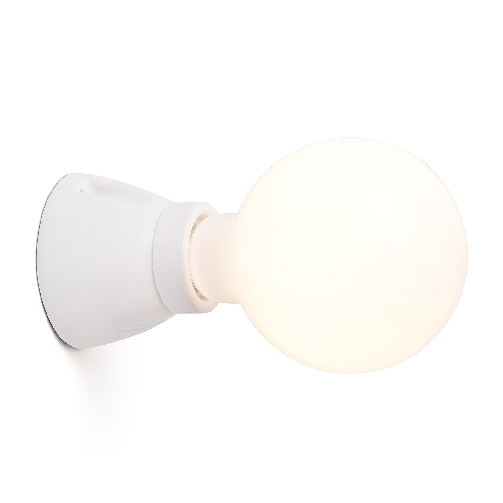 Lampa ścienna Kera, biała