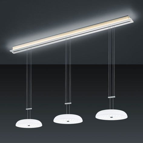 BANKAMP Strada Vanity suspension, 3 lampes, 155cm