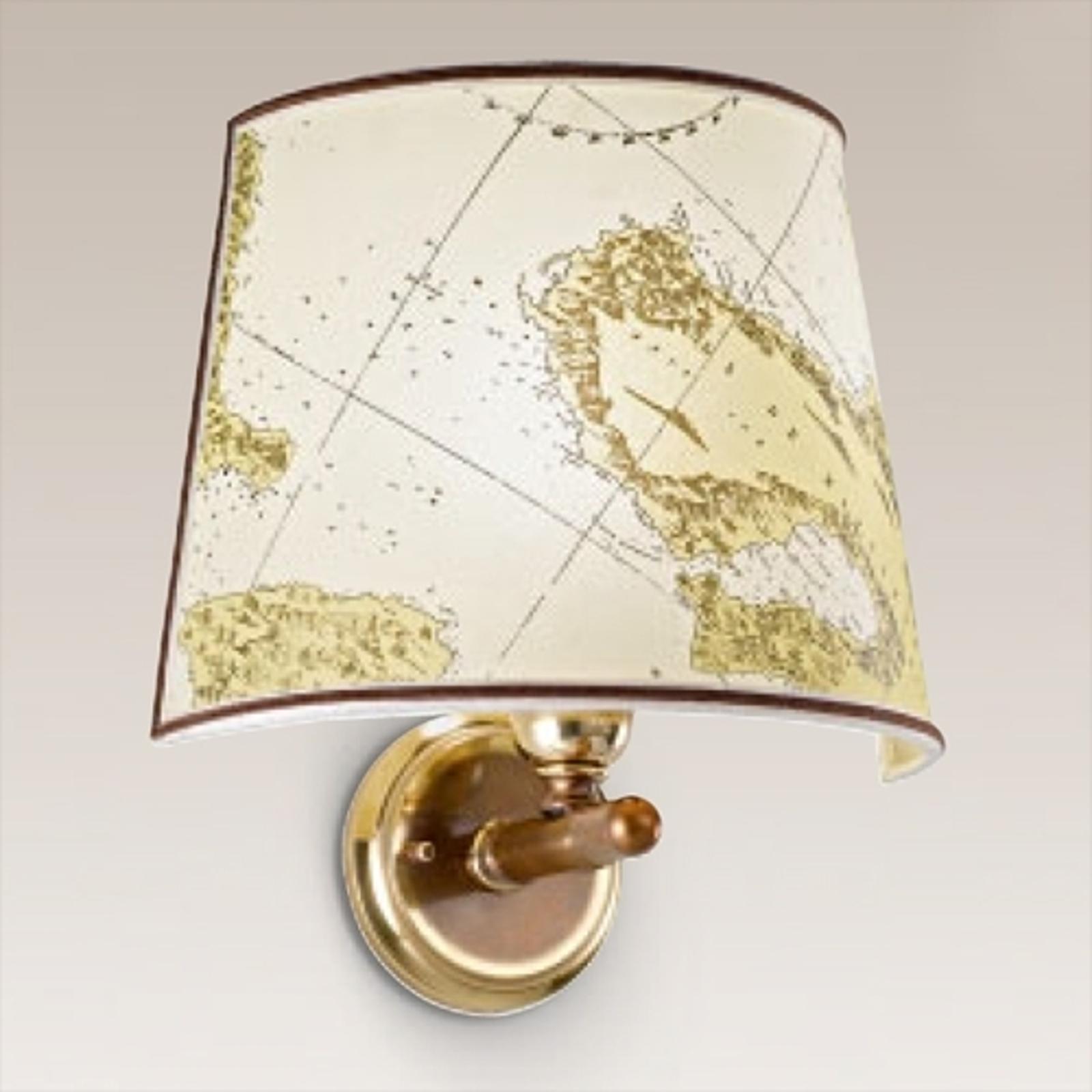 Mosiężna lampa ścienna Laguna