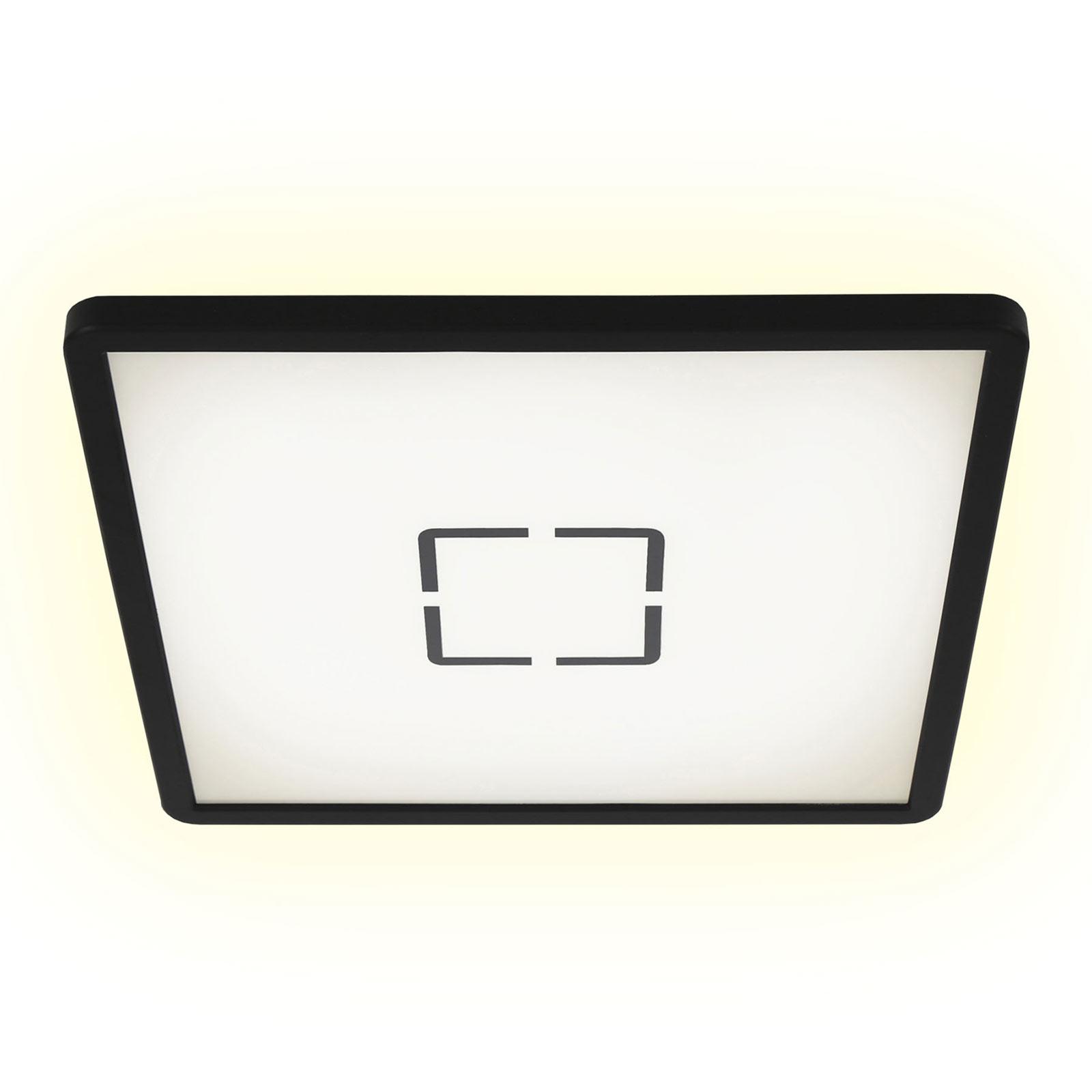 LED-Deckenlampe Free, 29 x 29 cm, schwarz