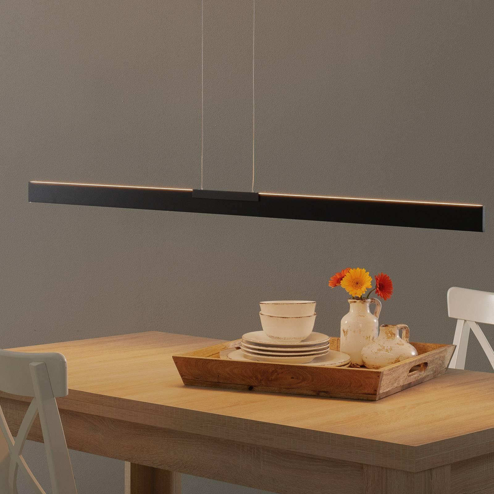 Bopp Nano - lampa wisząca LED, czarna 140cm