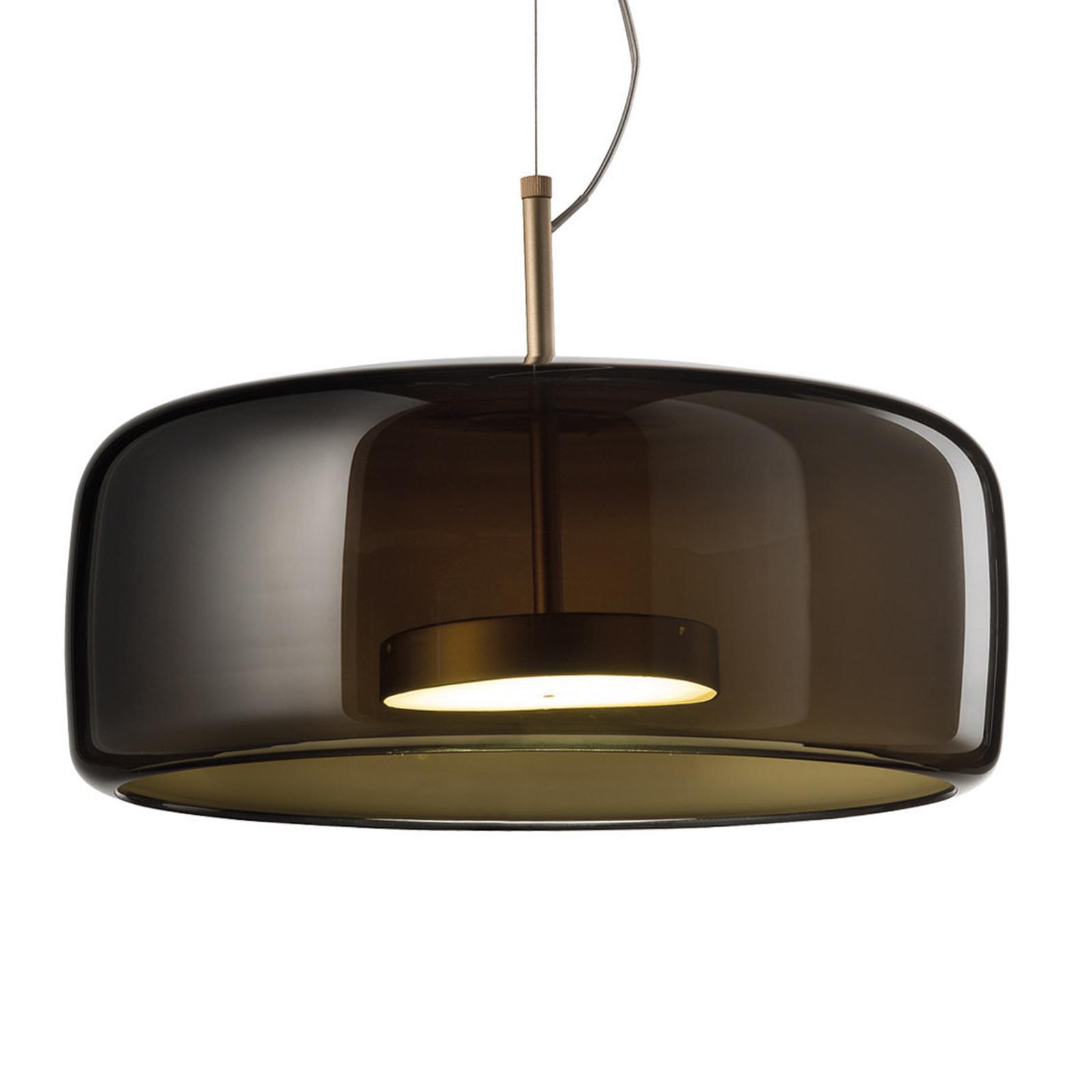 Jube LED-hængelampe SP 1 G, grøn glasskærm