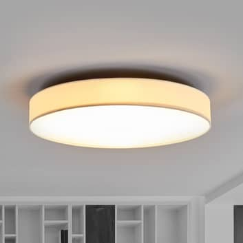 LED-stoff-taklampe Saira, 50 cm, hvit