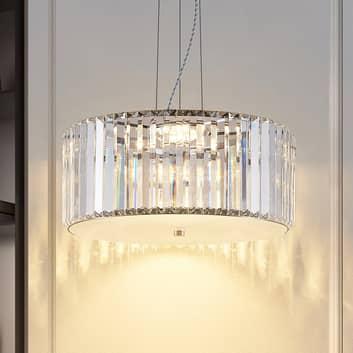 Lucande Alobani lampa wisząca LED z kryształami