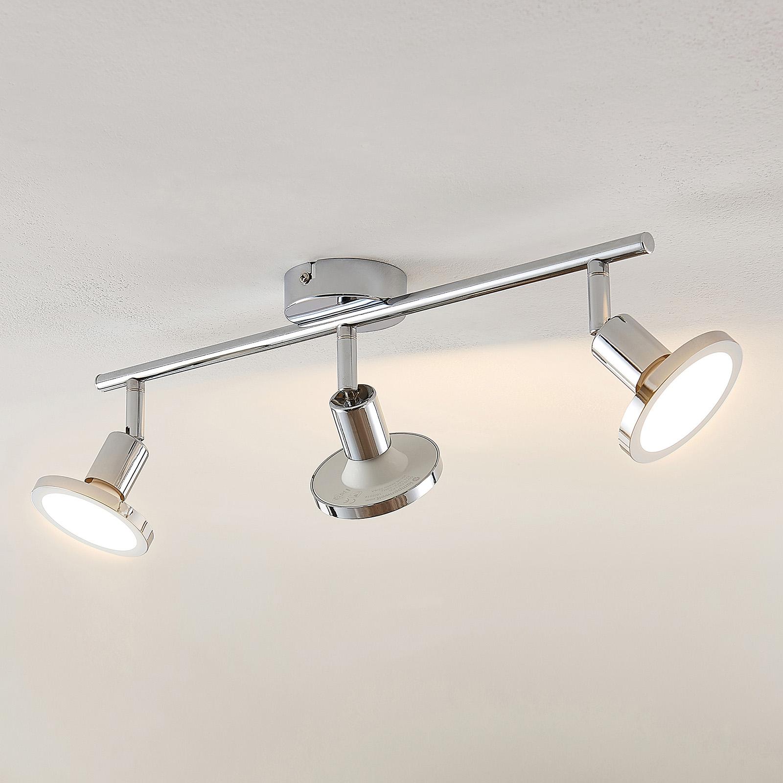 Lindby Ayden LED-Deckenstrahler, dreiflammig, lang