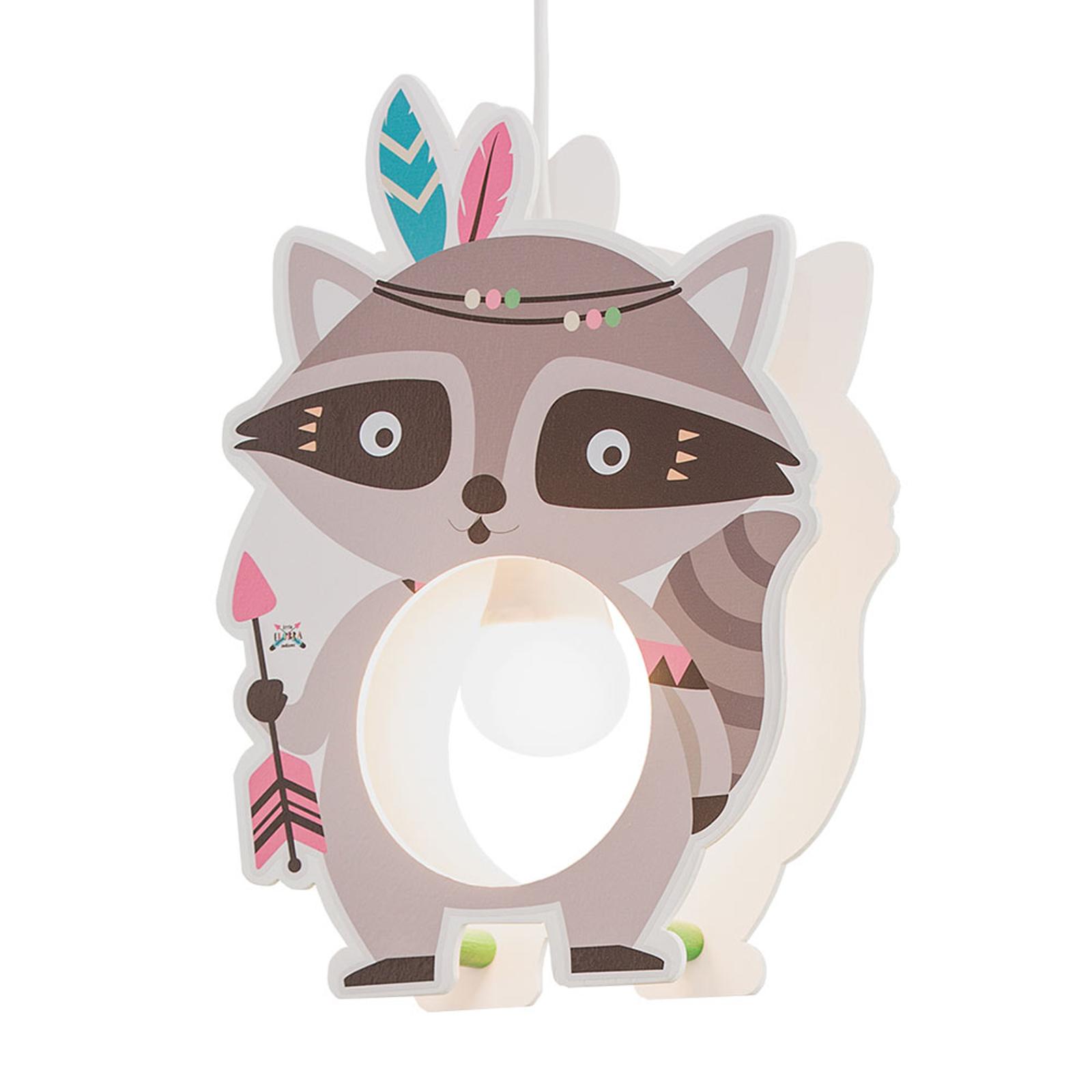 Hanglamp Little Indians, wasbeer Oskar, grijs